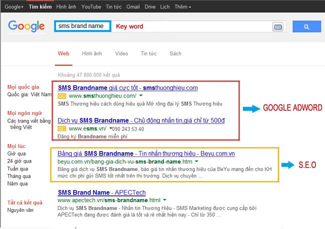 SEO Service SEO từ khóa lên top google