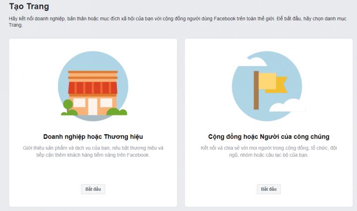 Lập trang facebook cộng đồng