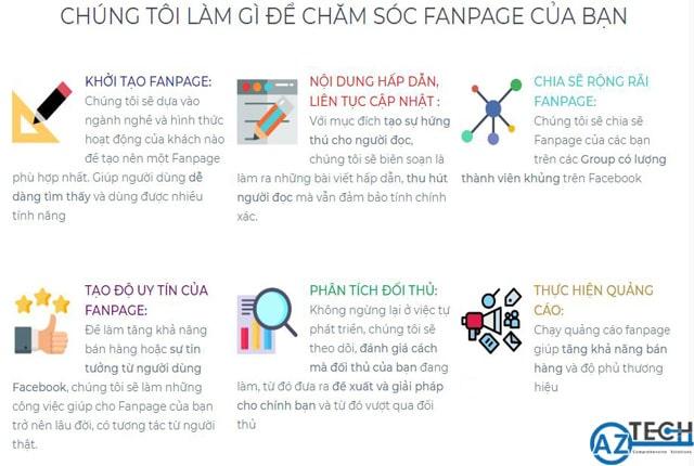 Dịch vụ quản lý chăm sóc Fanpage tại Đà Nẵng