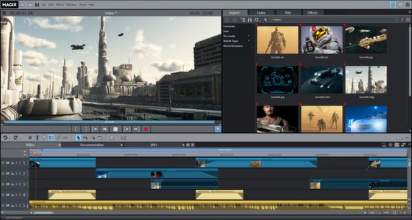 phần mềm chỉnh sửa video magix
