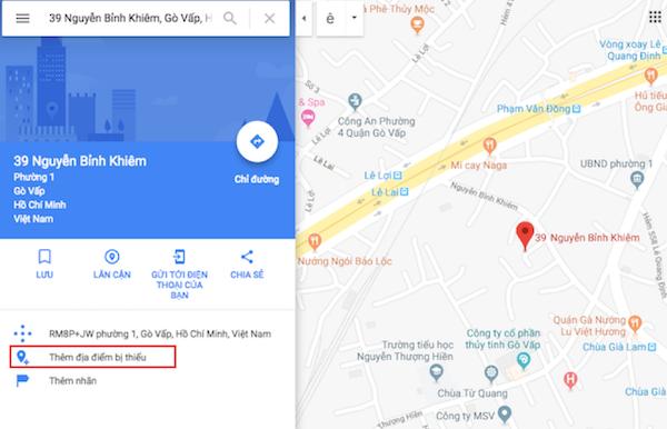 Đưa doanh nghiệp lên Google map, thêm địa chỉ doanh nghiệp