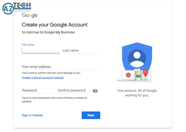 Đăng kí, đưa doanh nghiệp lên Google map, đăng kí tài khoản Google My Business