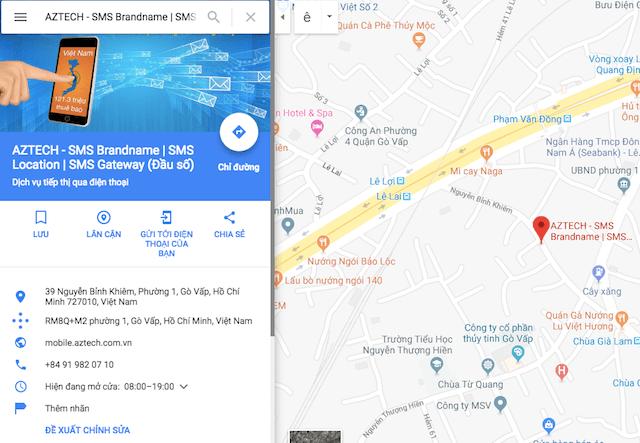 Các bước đưa địa chỉ doanh nghiệp lên Google map