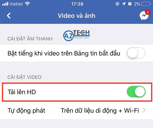 cách đăng video hd lên facebook