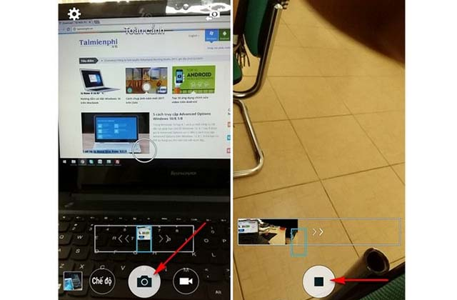 Chụp ảnh 360 độ bằng máy ảnh Android
