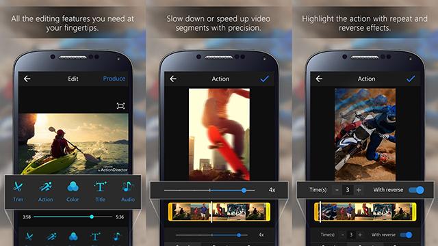 Làm video trên điện thoại với ActionDirector Video Editor