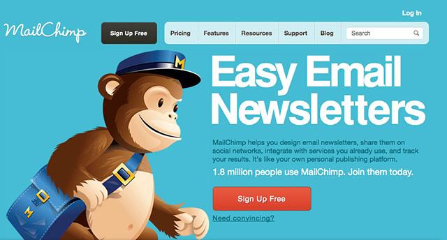 Phần mềm gửi email marketing Mailchimp