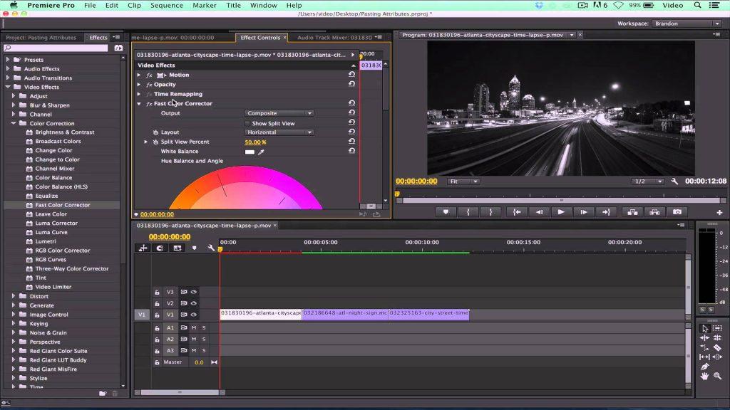 phần mềm chỉnh sửa video premiere