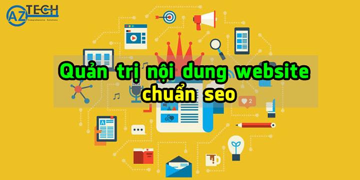 Dịch vụ quản trị website chuẩn seo