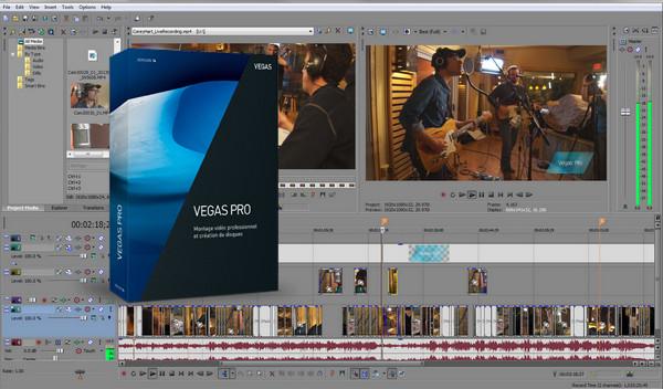 phần mềm làm video chuyên nghiệp sony vegas pro