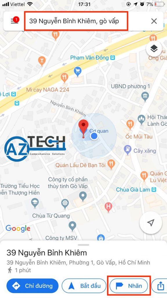 cách đánh dấu địa điểm trên google map