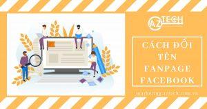 Đổi trang Fanpage Facebook như thế nào