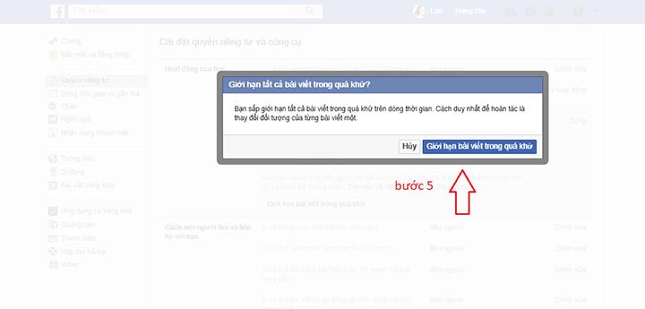 facebook hạn chế người xem