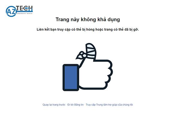 fanpage bị hủy đăng