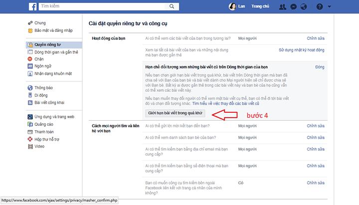 hạn chế người xem trên facebook