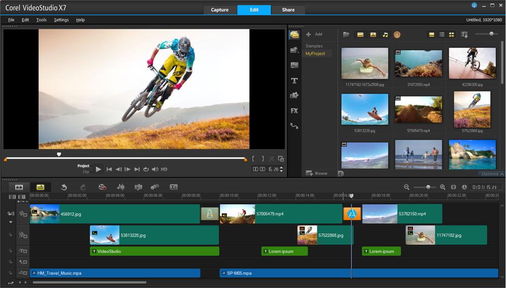 phần mềm làm video miễn phí corel