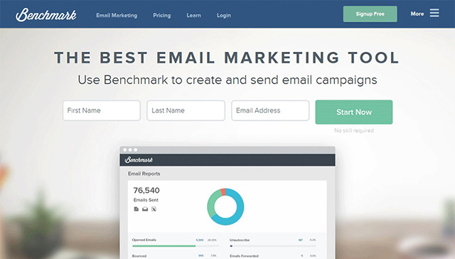 Phần mềm gửi email marketing Benchmark Mail