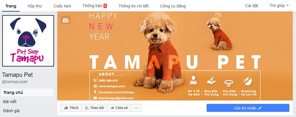 quản lý page thú cưng