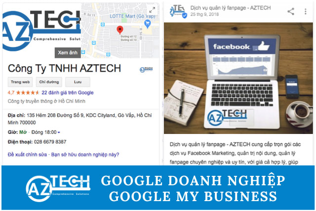 tạo google doanh nghiệp