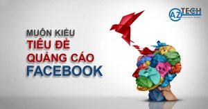 tiêu đề quảng cáo facebook